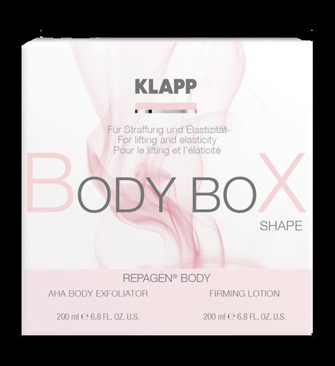 Набор Уход за телом: Фруктовый пилинг + Укрепляющий лосьон / Body Box Shape